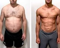 Weight loss and strength result for a man